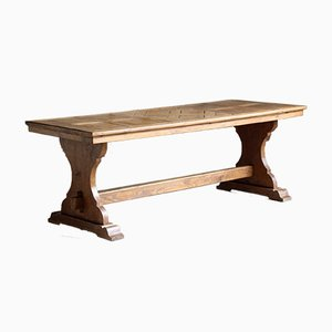 Oak Parquetry Dining Table