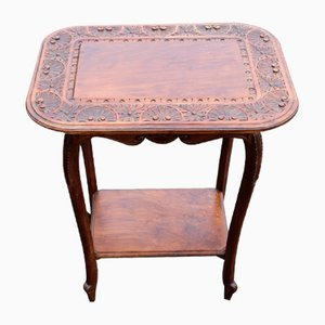 Solid Walnut Side Table, 1920s