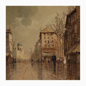 Italian Painting View of Paris