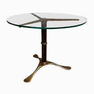 Table Basse en Laiton et Cristal