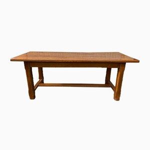 Solid Oak Farmhouse Table, 1980s