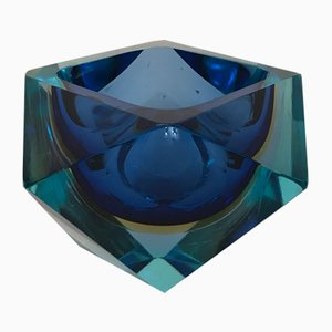 Sommerso Murano Glass Ashtray, 1970s