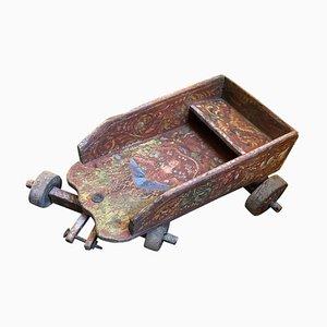 Handbemalter sizilianischer Spielwagen aus Holz, 19. Jh
