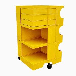 Vintage Yellow Boby Trolley by Joe Colombo for Bieffeplast, 1972