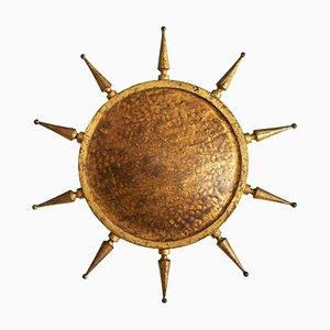 Plafonnier Soleil en Fer Doré