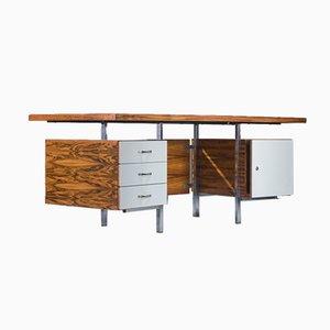 Large Geometric Rosewood Desk, 1970s