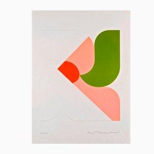 Lithograph, Morningstar, Shu Takahashi, 1970