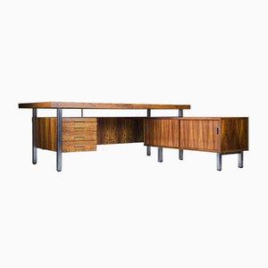 Large Mid-Century Rosewood Corner Desk, 1970s