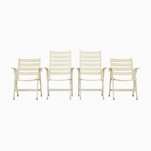 Folding Outdoor Armchairs, 1960s, Set of 4
