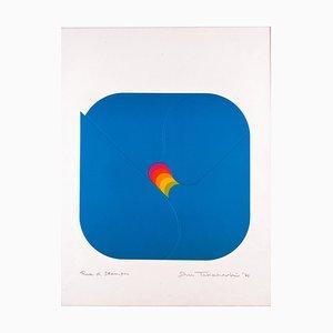 Lithograph, Convergenza, Shu Takahashi, 1970
