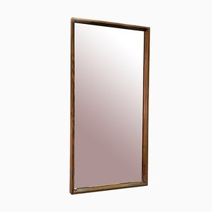 Mid-Century Modern Italian Rectangular Solid Teak Mirror, 1960s