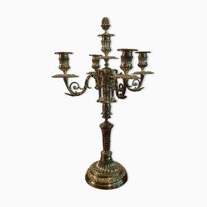 Louis XVI Style Modular Silver-Plated Bronze Candelabra