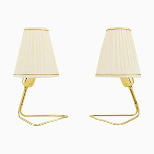 Table Lamps with Fabric Shades by Rupert Nikoll, Vienna, 1950s, Set of 2