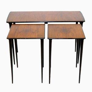 Tables Gigognes en Teck par Ferdinand Lundqvist, Suède, 1960s, Set de 3