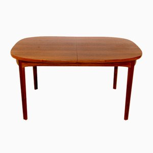 Walnut Dining Table, Sweden, 1970s