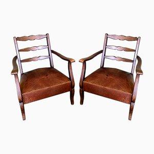 Französische Country Stühle, 1950er, 2er Set