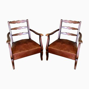 French Country Chairs, 1950s, Set of 2