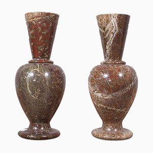 Antique English Victorian Decorative Posy Vases, Set of 2