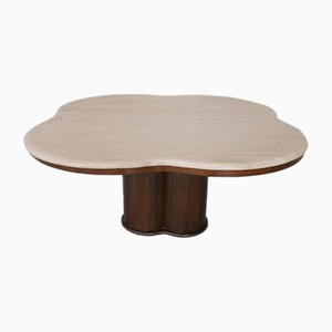 Grande Table Basse Trèfle Mid-Century