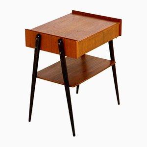 Teak Nachttisch von Carlström, Schweden, 1960er