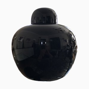 Black Cinese Murano Glass Vase by Carlo Scarpa for Venini, 1979