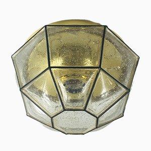 Mid-Century Wandlampe aus Glas von Limburg, 1960er