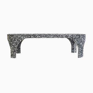 Tavolino da tè Loggia in marmo nero di Matteo Leorato per Portego