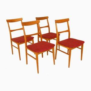 Eichenholz Stühle, Schweden, 1960er, 4er Set