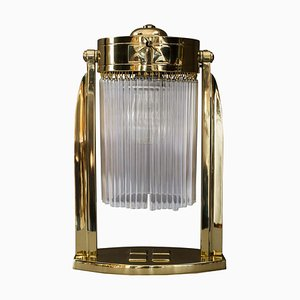 Art Deco Table Lamp with Glass Sticks, Vienna, 1920s
