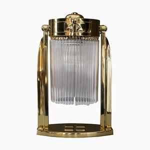 Lampe de Bureau Art Déco avec Bâtons de Verre, Vienne, 1920s