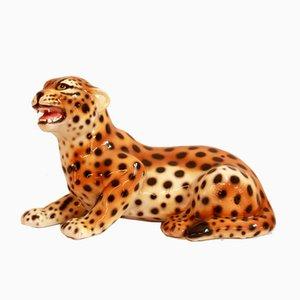 Vintage Tigro Tiger aus Keramik von Bassano Ceramiche, Italien, 1970er