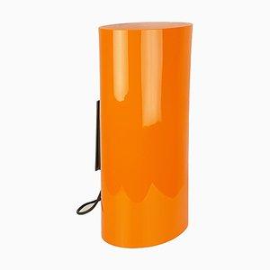 Applique in ottone, vetro di Murano arancione e bianco di Vistosi, anni '60