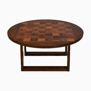 Danish Rosewood Parquetry Coffee Table Attributed to Poul Cadovius, 1960s
