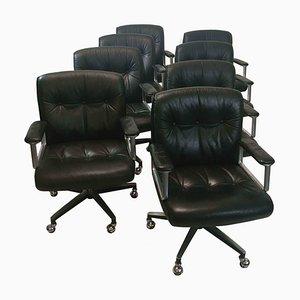 Swivel Chairs by Osvaldo Borsani for Tecno, 1970s, Set of 8
