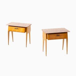 Tables de Chevet avec Forme Sculpturale, 1950s, Set de 2
