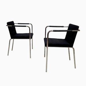 Sedie da cinema minimaliste in acciaio tubolare di Gunilla Allard per Lammhults, Svezia, anni '90, set di 2