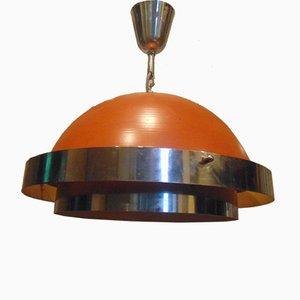 Lampada da soffitto vintage industriale, anni '50