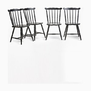 King Edward Chairs, 1970s, Set of 4