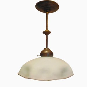 Lampada Art Déco in ottone