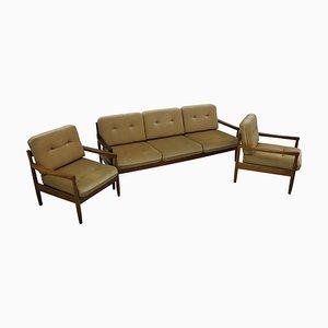 Dormeuse, divano e 2 poltrone, set di 3