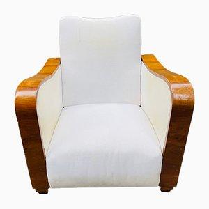 Art Deco Armchairs in Walnut, Set of 2