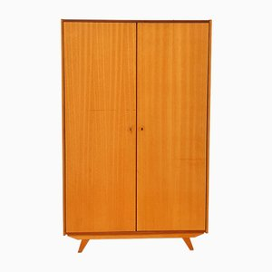 Vintage Wardrobe with Shelves and Hanging Area, 1960s