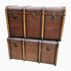 Antique Trunks, Early 19th Century, Set of 2