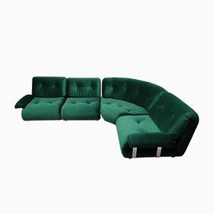 Vintage Modular Green 4-Seat Corner Sofa by Km Wilkins for G-Plan, Set of 4