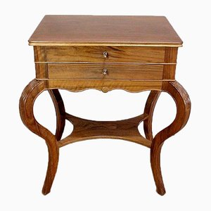 Solid Blonde Walnut Worktable, Late 19th Century