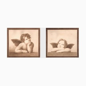 Angels on Paper, 19th Century, Set of 2