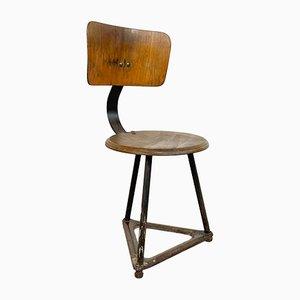 Chaise d'Atelier Industrielle Vintage