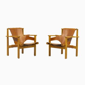 Trienna Lounge Chairs by Carl-Axel Acking for Nordiska Kompaniet, Set of 2