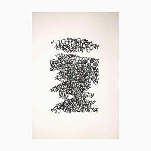 Antonio Sanfilippo, Abstract Composition, Original Screen Print by Antonio Sanfilippo, 1971