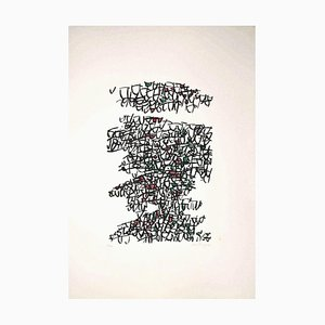 Antonio Sanfilippo, Abstract Composition, Original Siebdruck von Antonio Sanfilippo, 1971